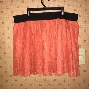 Pretty lace orange short skirt